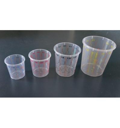 Godets de mélange multi-gradué et couvercles